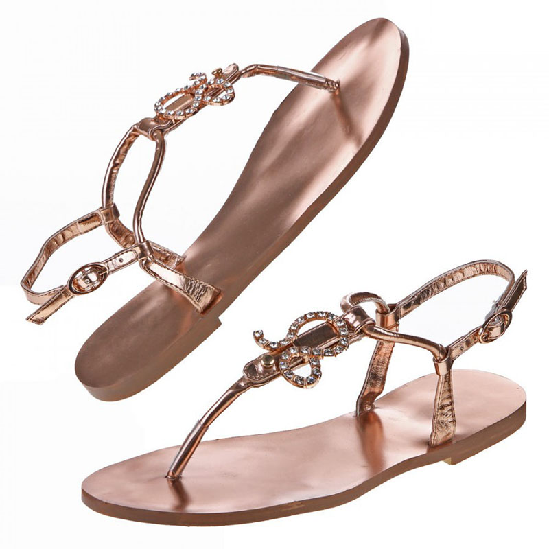 zehentrenner sandaletten sandalen champagner silber strass. Black Bedroom Furniture Sets. Home Design Ideas