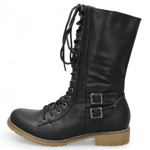 damen military boots schn rstiefel in 4. Black Bedroom Furniture Sets. Home Design Ideas