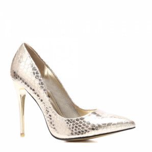 goldene high-heel