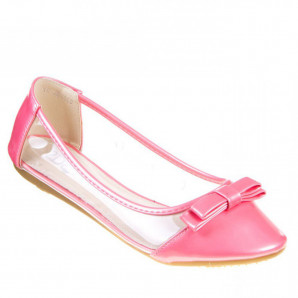 transparente lackballerinas in pink