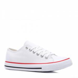 weiße canvas sneaker