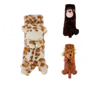 Jiglz - Kinderschal Tiermotive Plüschschal Giraffe Affe Löwe NEU