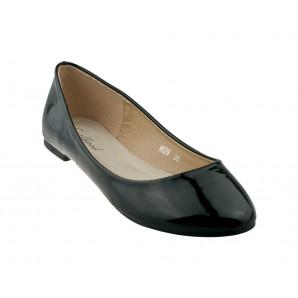 schwarze damen ballerinas glanz lack