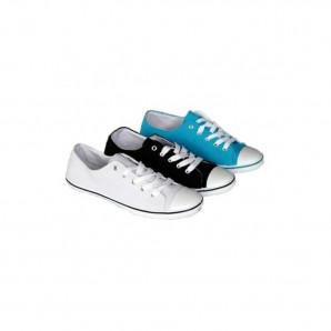 Schuhzoo - Canvas Street Sneaker Schnürschuhe Weiß Schwarz Blau Größe 36-41