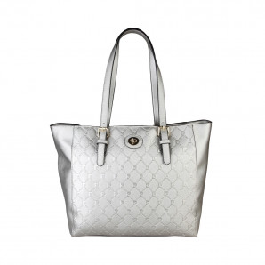 pierre cardin designer shopper in silber