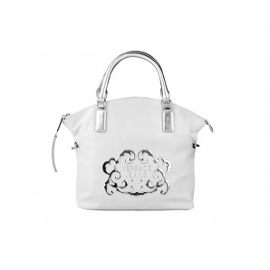 Versace Designer Damen Handtasche weiss/silber
