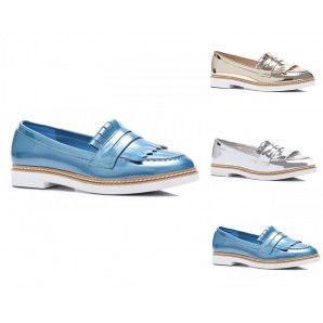 damen Loafer schuhe in 3 coolen farben