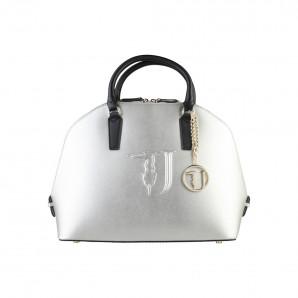 Luxus Damen Hantasche mit Henkel in silber