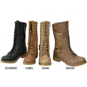 military style boots für damen in 4 farben