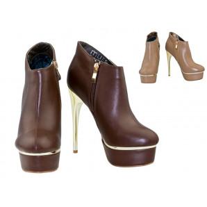braune und beige elegante high-heels