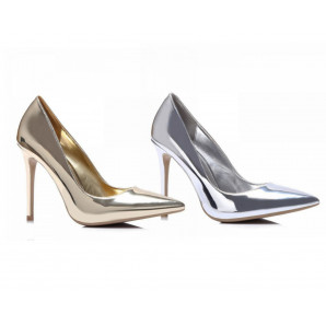 silberne und goldene sexy high-heel