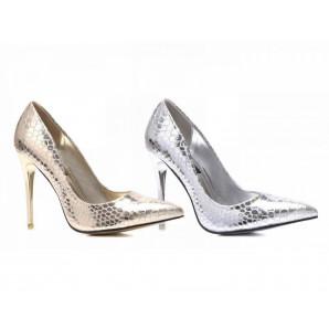 silberne und goldene high-heel
