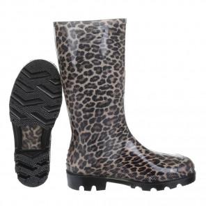 Schuhzoo - Damen Gummistiefel Regenstiefel Leopard Army Camouflage Größe 37-41