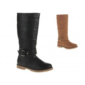 Schuhzoo - Damenstiefel Schuhe Gefüttert Größe 36 37 38 39 40 41